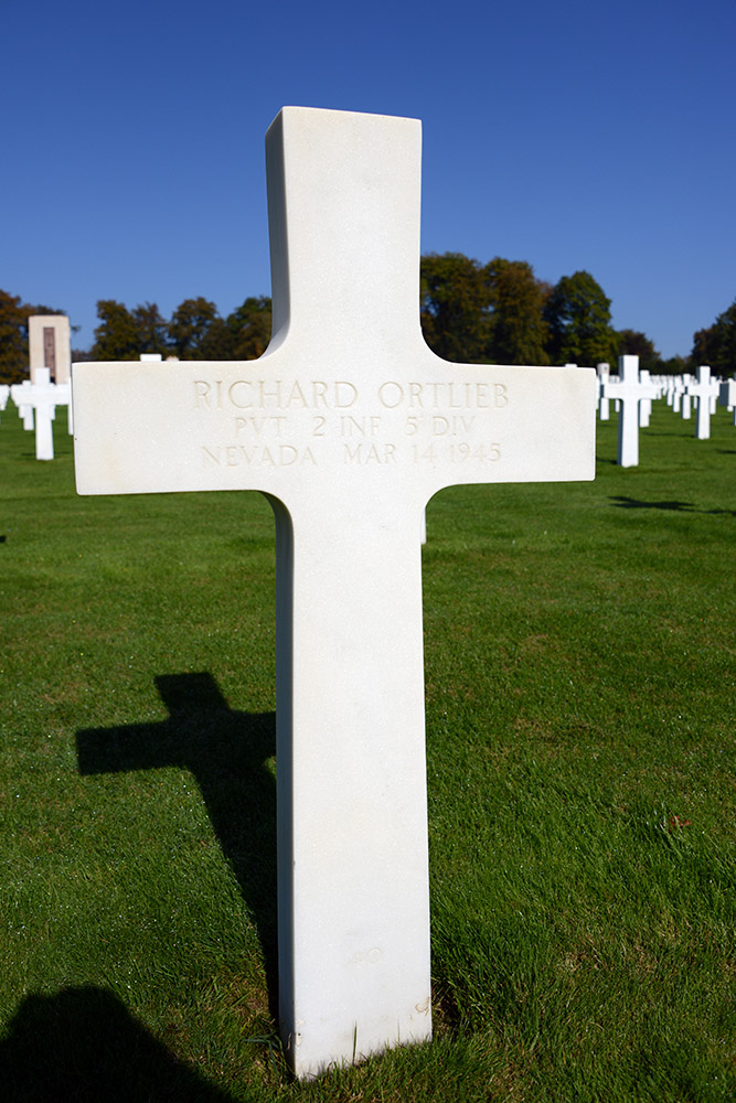 Luxembourg American Cemetery Richard Ortlieb March 14th 1945