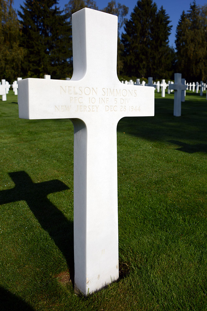 Luxembourg American Cemetery Nelson Simmons December 28th 1944