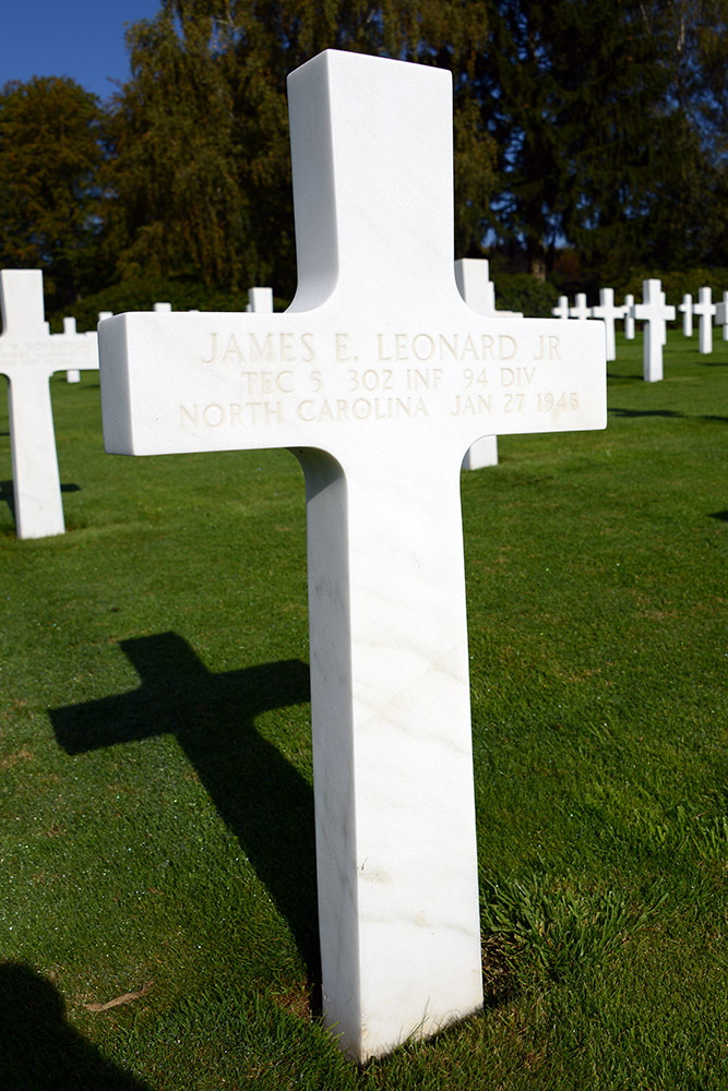 Luxembourg American Cemetery James Leonard January 27th 1945