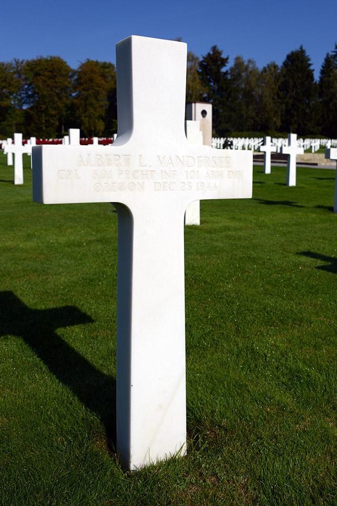 Luxembourg American Cemetery Albert Vandersee December 25th 1944