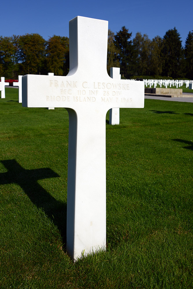 Luxembourg American Cemetery Frank Lesowske May 7th 1945