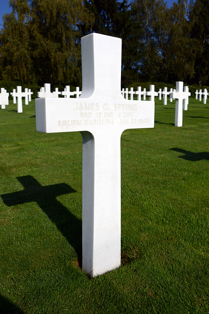 Luxembourg American Cemetery James Spring January 22nd 1945