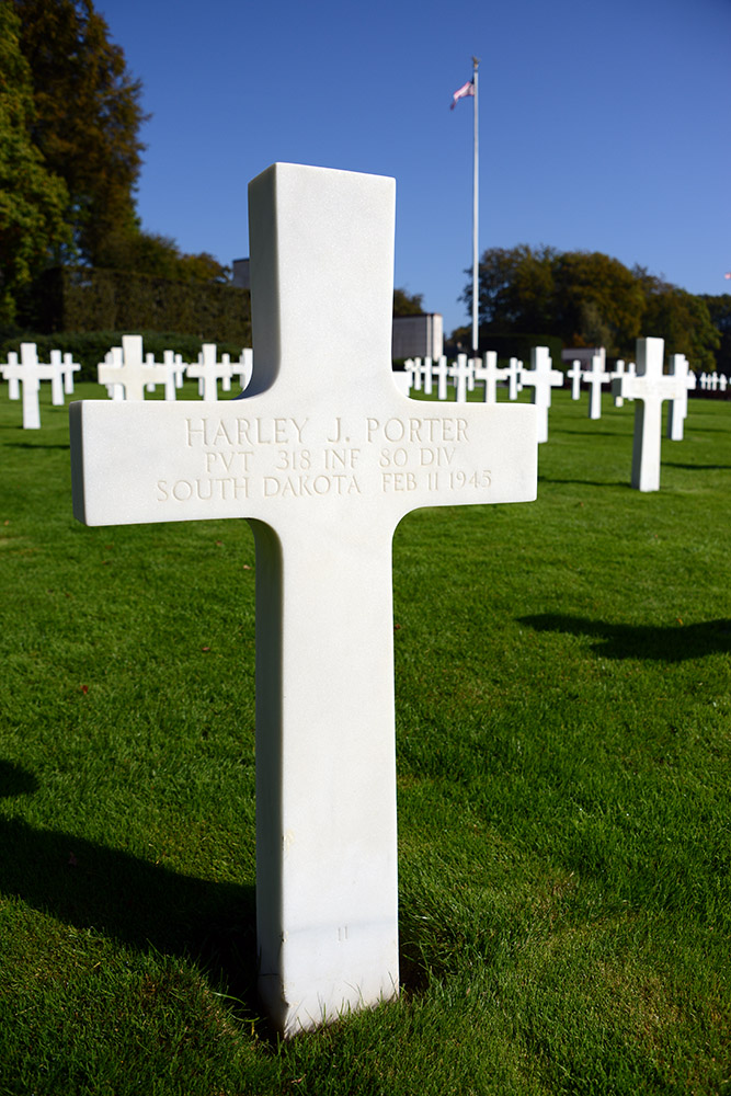 Luxembourg American Cemetery Harley Porter February 11th 1945