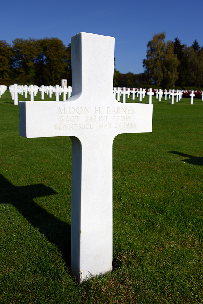 Luxembourg American Cemetery Aldon Barnes March 29th 1945