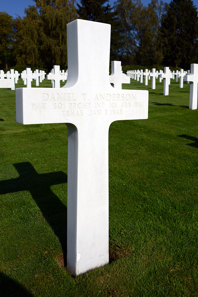Luxembourg American Cemetery Daniel Anderson January 3rd 1945