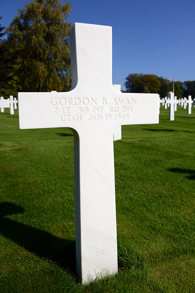 Luxembourg American Cemetery Gordon Swan January 19th 1945