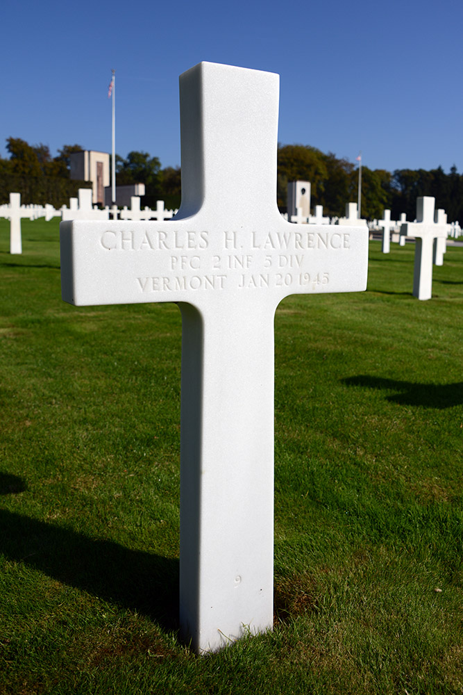 Luxembourg American Cemetery Charles Lawrence January 20th 1945
