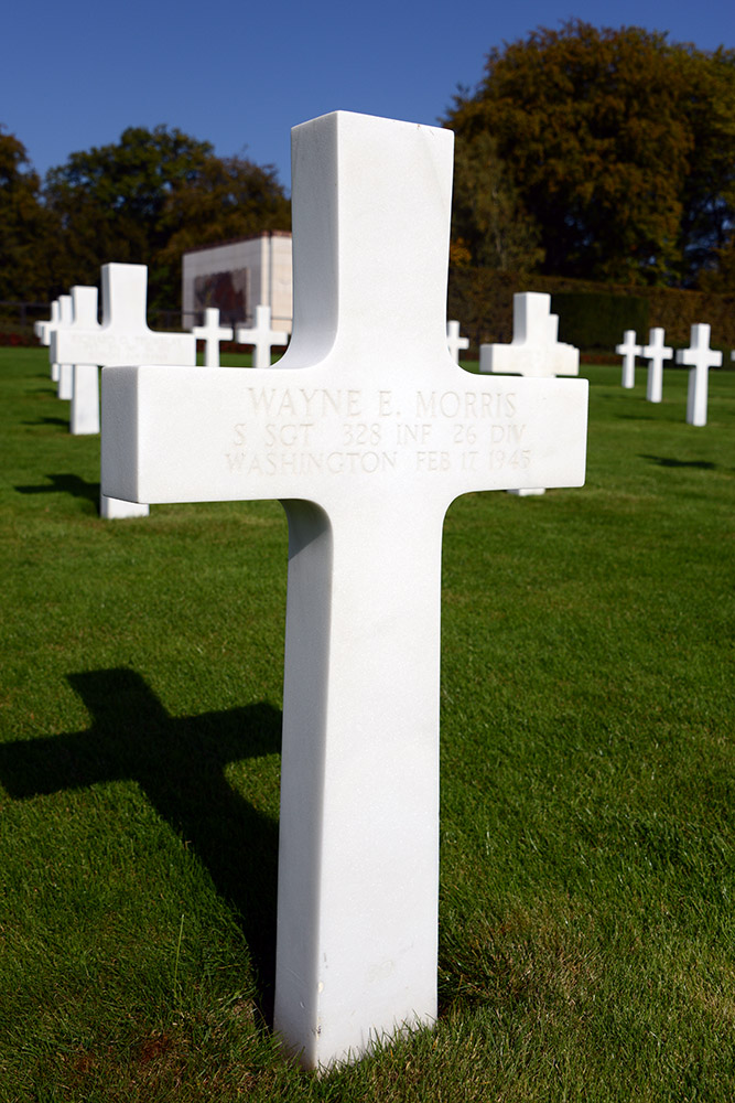 Luxembourg American Cemetery Wayne Morris February 17th 1945