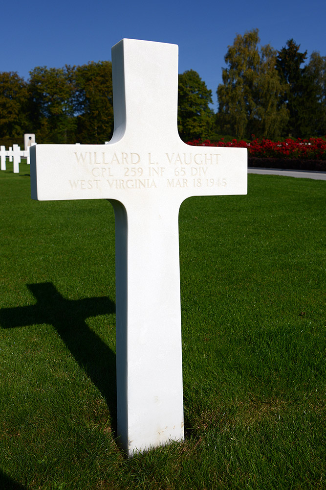 Luxembourg American Cemetery Willard Vaught March 18th 1945