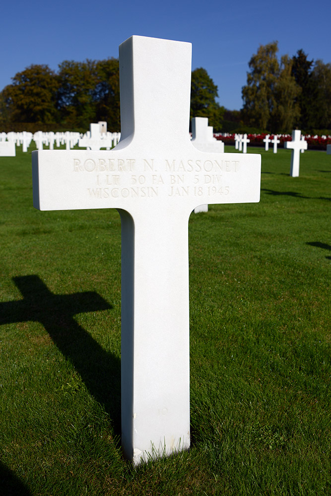 Luxembourg American Cemetery Robert Massonet January 18th 1945
