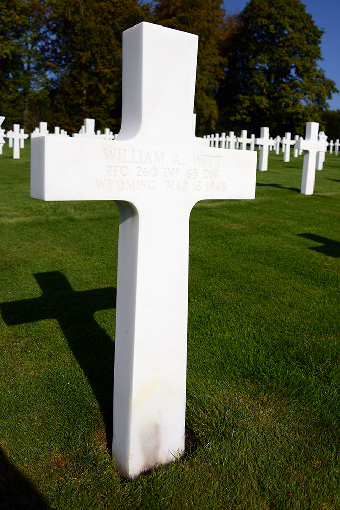 Luxembourg American Cemetery William Witt March 18th 1945