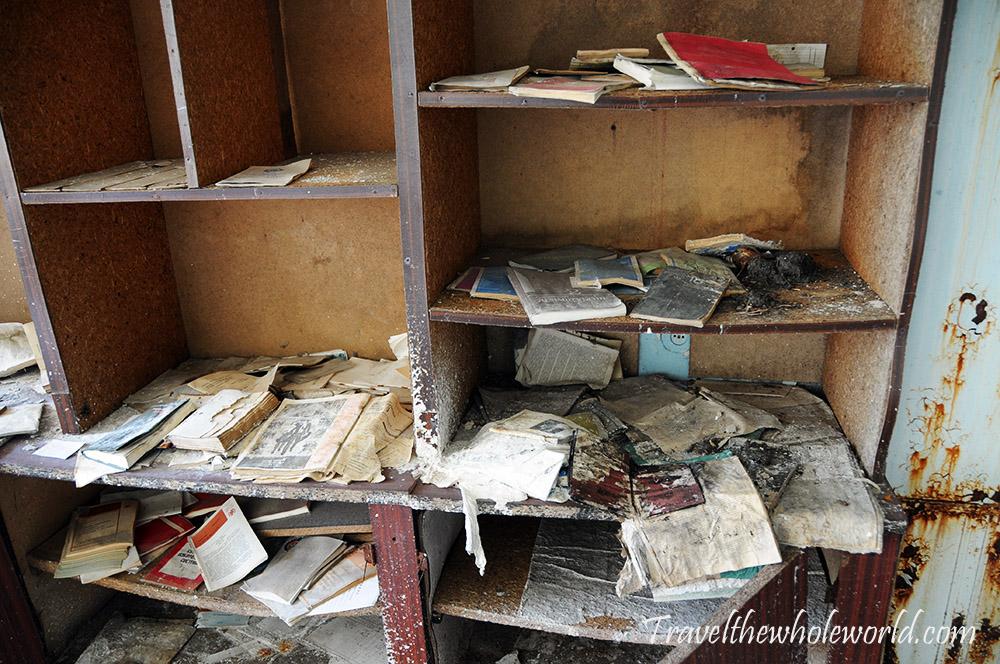 Chernobyl Pripyat Bookshelves