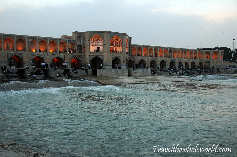Iran Esfahan Bridge Dam