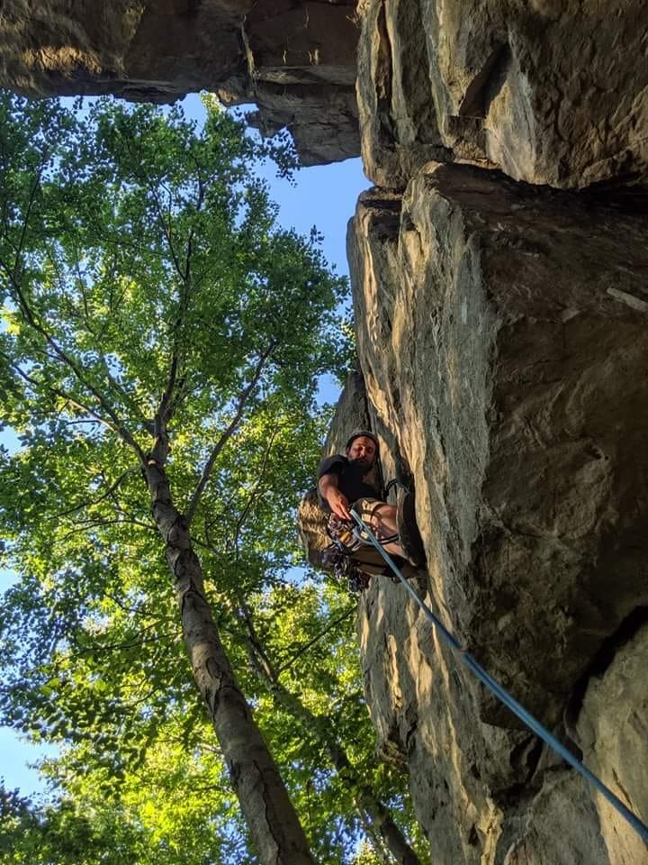 George Kashouh Rock Climbing