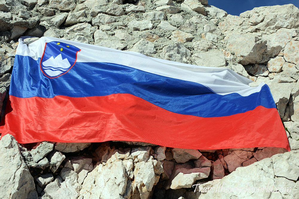 Slovenia Triglav Summit Flag