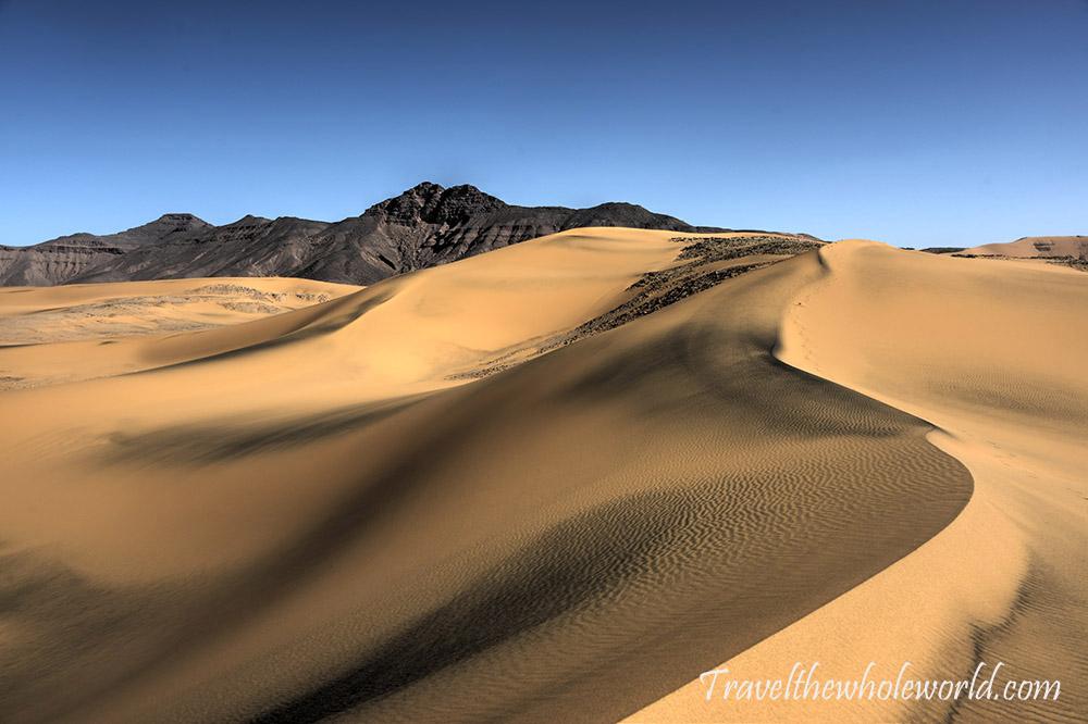 Algeria Sahara Sand Dune Mountain