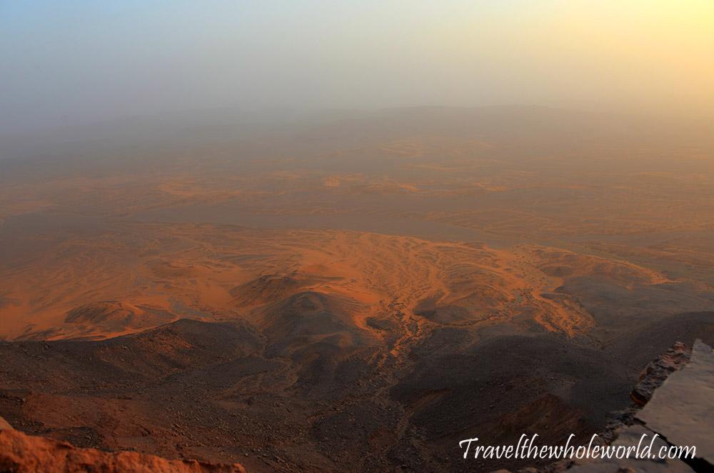 Algeria Sahara Desert Floor Mountain View