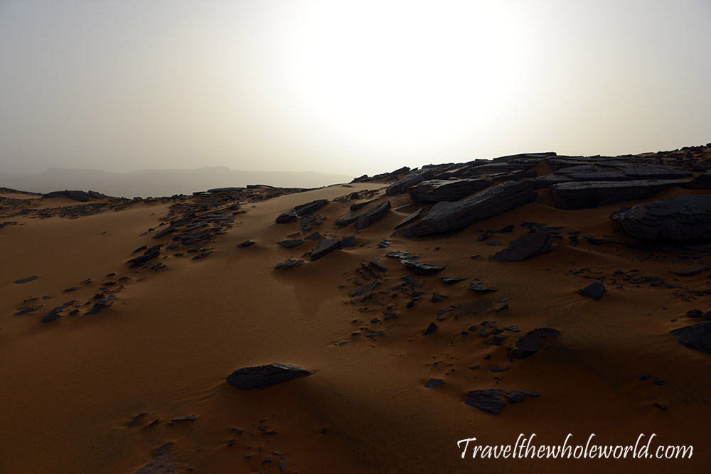 Algeria Sahara Desert Mountain Gaining the Ridge