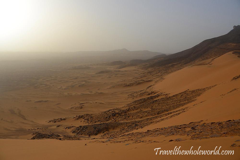 Algeria Sahara Desert Mountain Climb Ridge View