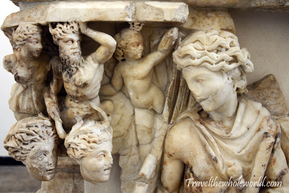 Algeria Museum of Antiquities Sarcophagus of Bellerophon found in 1934 at Azeffoun,