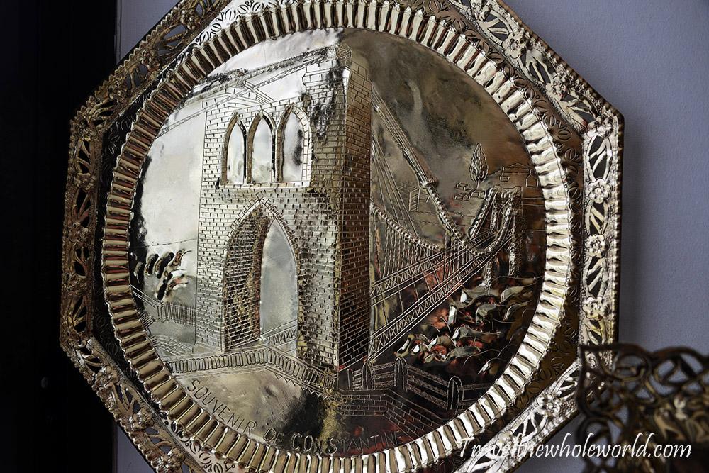 Algeria Constantine Metal Artwork Plate